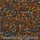 DB-0981 Delicas 11/0 FE sparkle taupe-amber-mix   ca. 7,5 Gramm