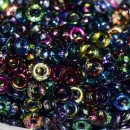 O-Beads 3,8mm x 1mm crystal magic blue (5 Gramm)