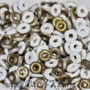 O-Beads 3,8mm x 1mm chalk white valeninite matted (5 Gramm)