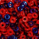 O-Beads 3,8mm x 1mm opaque red azuro (5 Gramm)