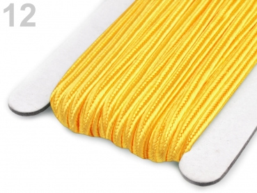 Soutache Band 510248 100% Viscose 3mm Cyber Yellow (1 Meter) 12