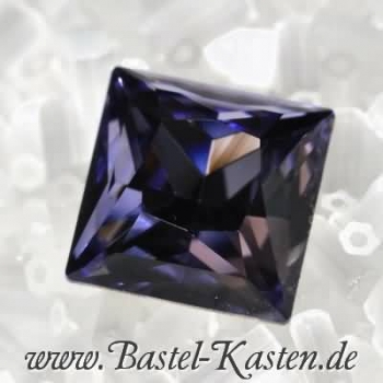 Swarovski Princess Square  4447 tanzanite 10mm (1 Stück)