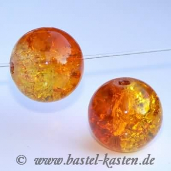 Crackle Beads 12mm gelb orange (10 Stück)