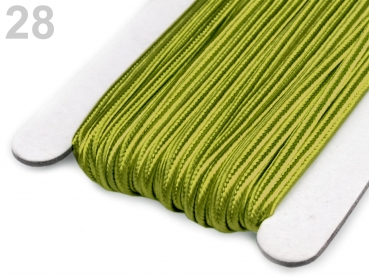 Soutache Band 510248 100% Viscose 3mm Spinach Green (1 Meter) 28