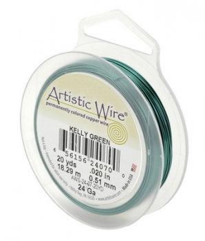 Artistic Wire kelly green 18 Gauge / 1mm dick  (ca. 9 Meter auf Spule)
