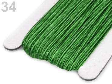 Soutache Band 510248 100% Viscose 3mm Fern Green (1 Meter) 34