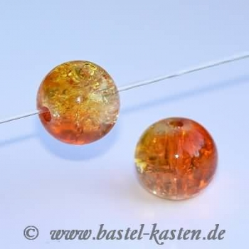 Crackle Beads 8mm gelb orange (10 Stück)