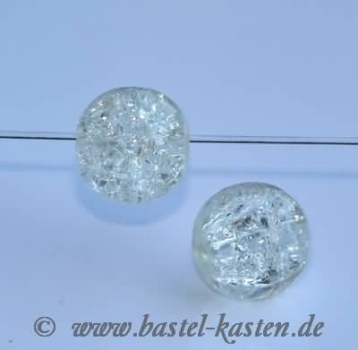 Crackle Beads 10mm crystal (10 Stück)