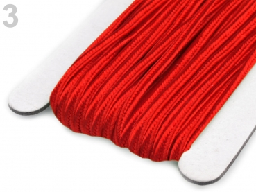 Soutache Band 510248 100% Viscose 3mm True Red (1 Meter) 3