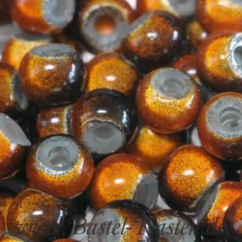 Miracle Beads braun-orange 6 mm  (30 Stück)