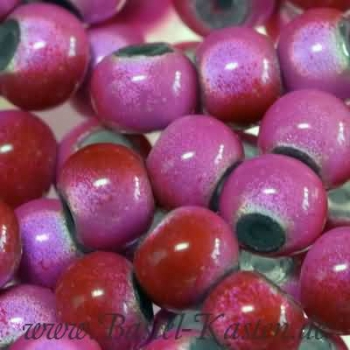 Miracle Beads rosa-rot 6 mm  (30 Stück)