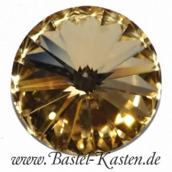 Swarovski 1122 Rivoli 12mm crystal golden shadow (1 Stück)