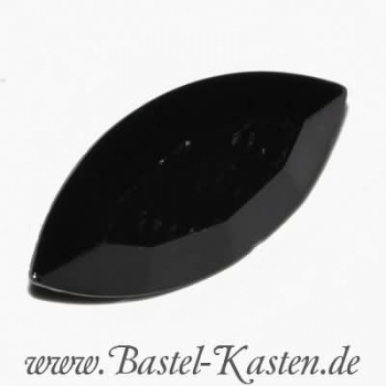 Swarovski Fancy Stone 4200/2 table cut jet 10 x 5 mm (1 Stück)