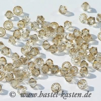 Swarovski Doppelkegel 5301 4 mm crystal golden shadow  (50 Stück)