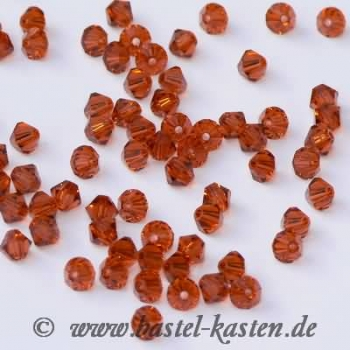 Swarovski Doppelkegel 5301  4 mm indian red  (50 Stück)
