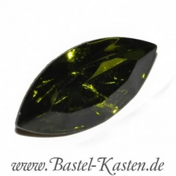 Swarovski Fancy Stone 4200/2 table cut olivine 15 x 7mm (1 Stück)
