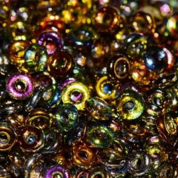 O-Beads 3,8mm x 1mm crystal magic copper (5 Gramm)