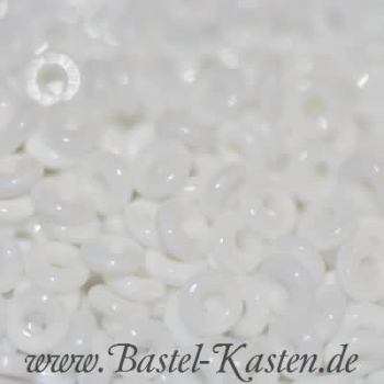 O-Beads 3,8mm x 1mm chalk white (5 Gramm)