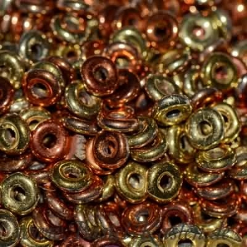 O-Beads 3,8mm x 1mm jet california gold rush (5 Gramm)
