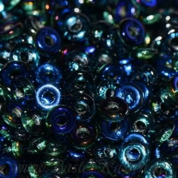 O-Beads 3,8mm x 1mm emerald azuro (5 Gramm)