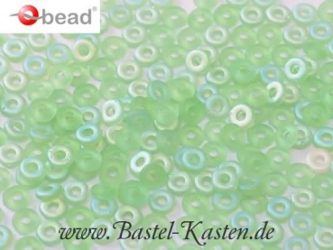 O-Beads 3,8mm x 1mm peridot ab matted (5 Gramm)