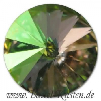Swarovski 1122 Rivoli 8mm crystal luminous green (1 Stück)