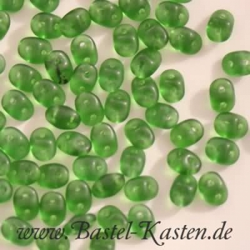 Superduo 2,5 x 5 mm chrysolite matted (10 Gramm)