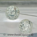 Crackle-Beads 12mm crystal (10 Stück)