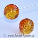 Crackle Beads 10mm gelb orange (10 Stück)